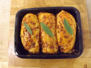 coated chicken breasts