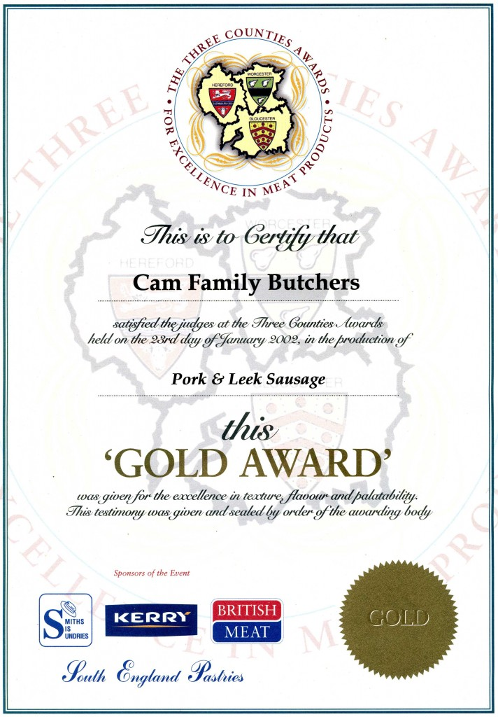 Cam Family Butchers - Accreditations